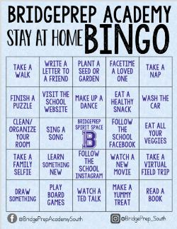 Stay At Home Bingo